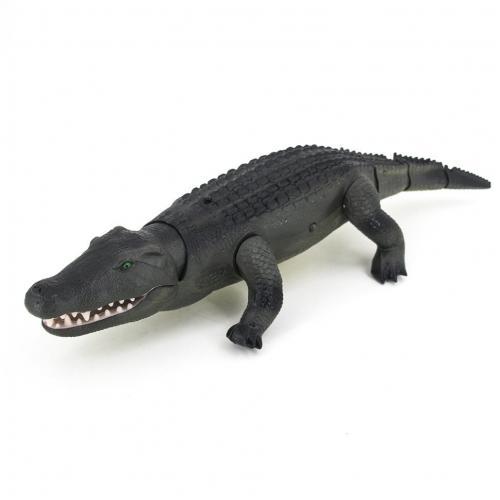 Радиоуправляемый крокодил зеленого цвета (свет. эфф., 50 см)