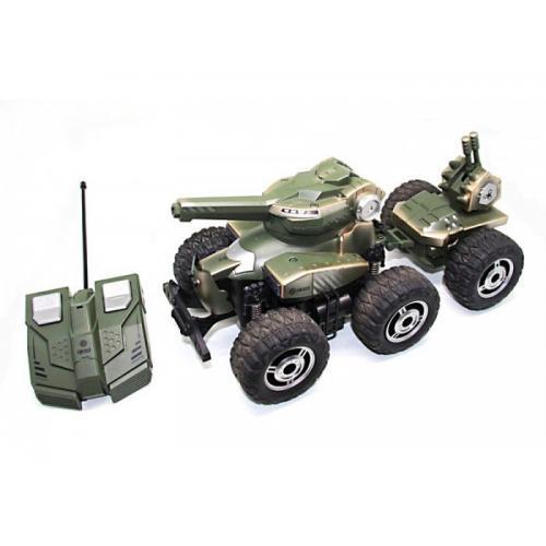 Радиоуправляемый внедорожник (6 колес, стрельба пульками, 40 см)