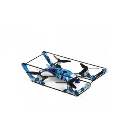 Радиоуправляемый квадрокоптер с камерой, ездит и летает, 5.8G FPV (видео на пульте, 40 см)