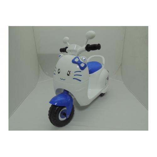 Детский мотоцикл на аккумуляторе JJ сине-белый