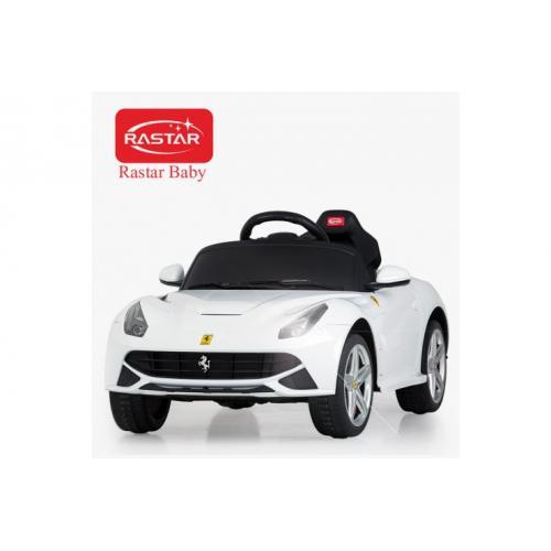 Электромобиль детский с пультом Ferrari F12 12V, белый