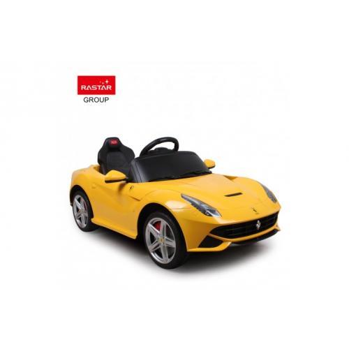 Электромобиль детский с пультом Ferrari F12 12V, желтый