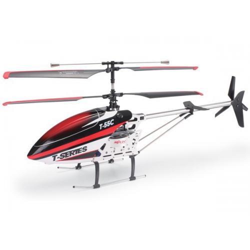 Большой радиоуправляемый вертолет c транслирующей FPV камерой (71 см, видео на смартфон)