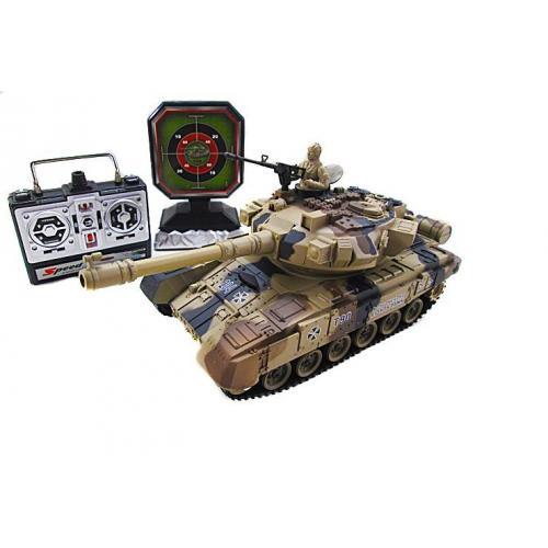 Танк радиоуправляемый для танкового боя с мишенью (свет, звук, 28 см)