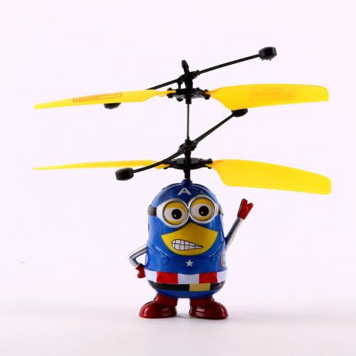 Радиоуправляемая игрушка летающий Миньон супергерой (13 см, до 8 м)