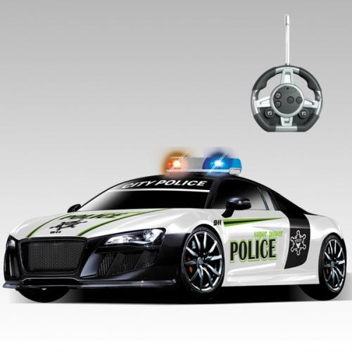 Радиоуправляемый конструктор-машинка полицейская Audi R8