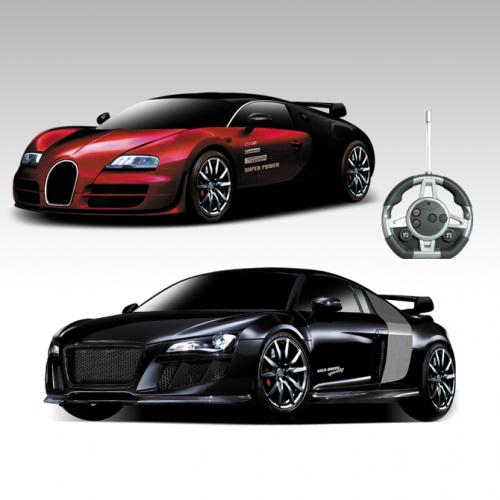 Конструктор на радиоуправлении - машинки Bugatti Veyron и Audi R8 - 2028-2F02B
