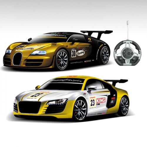 Радиоуправляемый конструктор - спортивные машинки Bugatti Veyron и Audi R8