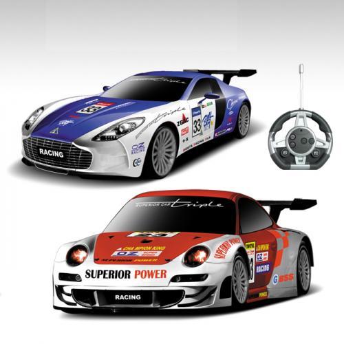 Радиоуправляемый конструктор - спортивные машинки Aston Martin и Porsche