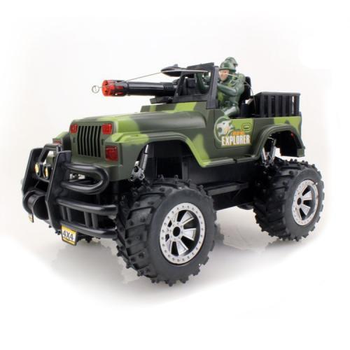 Военный джип радиоуправляемый Army Car 1:16 (28 см, свет, звук, аккум.)