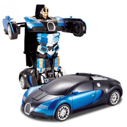 Радиоуправляемый робот-трансформер машина Bugatti (свет, звук, 29 см, до 30 м)