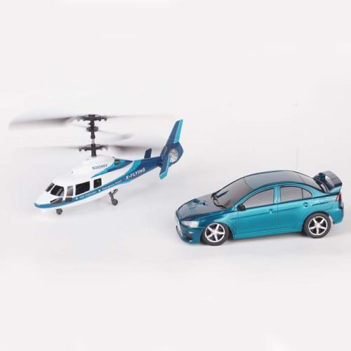 Игровой набор радиоуправляемый вертолет и машина (2 модели, пульт)