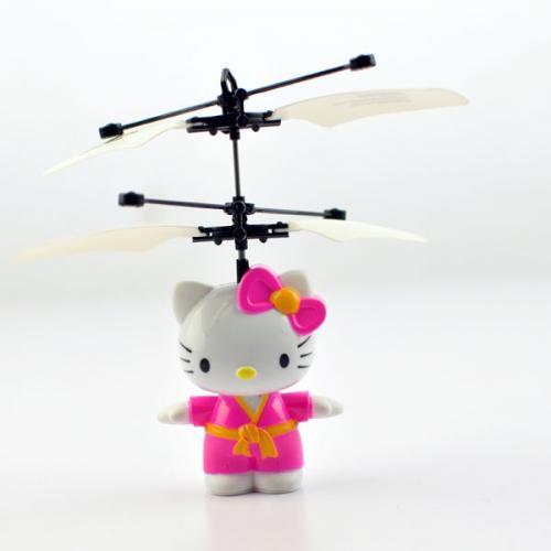 Радиоуправляемая игрушка вертолет Hello Kitty (кошечка, 14 см, подсветка)