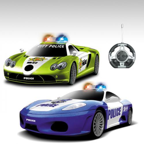 """Радиоуправляемый конструктор - 2 машинки Mclaren и Ferrari """"Полиция"""""""