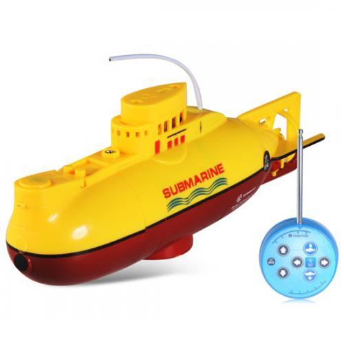 Радиоуправляемая подводная лодка со светом (длина 15 см, до 5 м)