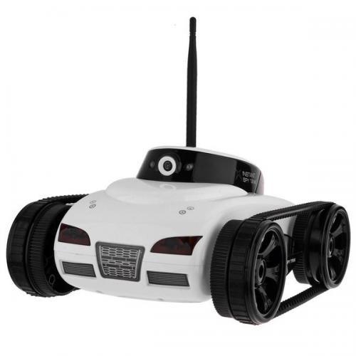 Радиоуправляемый танк-шпион I-Spy с КАМЕРОЙ WiFi (видео на смартфоне, 24 см)