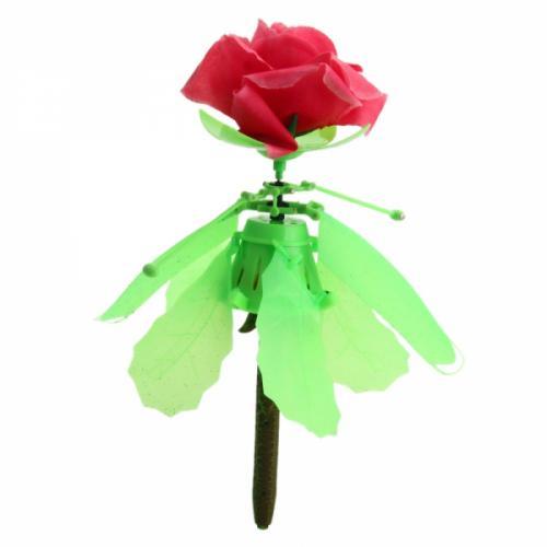Радиоуправляемая игрушка вертолет Летающая роза (14 см, подсветка)