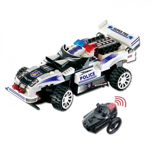 Конструктор радиоуправляемой полицейской машины (пульт ДУ, 1 машина, 121 деталь)
