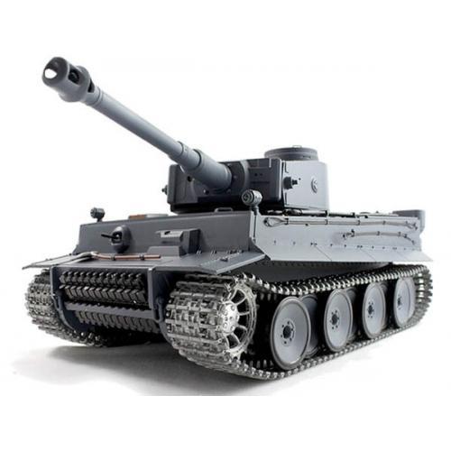 Радиоуправляемый танк Немецкий Tiger-1 1:16 3818-1PRO (дым, свет, звук, стрельба, металл. гусеницы, 51 см)