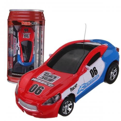 Мини-машинка радиоуправляемая в банке (7 см, банка 13 см)