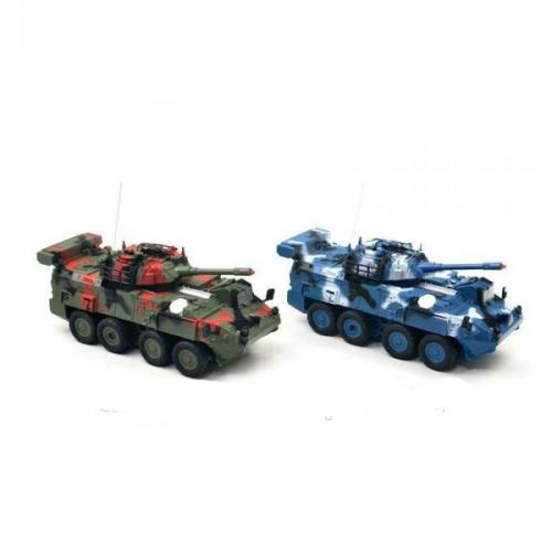 Радиоуправляемый бой танков-БТР (набор 2 танка по 20 см, свет, звук, ИК-пушки)