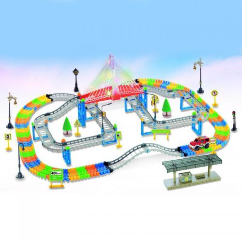 Автотрек детский Dream Track 3622 (подсветка, 268 деталей, многоярусный)