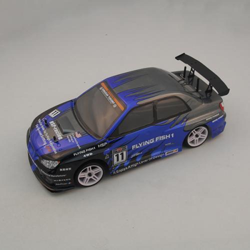 Радиоуправляемый автомобиль SUBARU синий 1:10 4WD 2,4GHz (электро, 60 км/ч, 40 см)