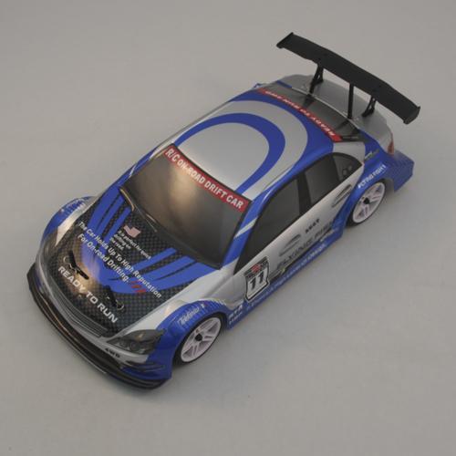 Радиоуправляемый автомобиль HSP Xeme Mercedes сине-белый 1:10 4WD 2,4GHz (электро, 60 км/ч, 40 см)