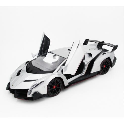 Радиоуправляемая машина Lamborghini Veneno 1:10 серебр. (51 см, свет, открыв. двери)