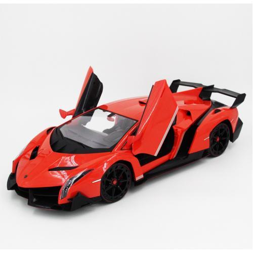 Радиоуправляемая машина Lamborghini 1:10 оранж. (51 см, свет, открыв. двери)