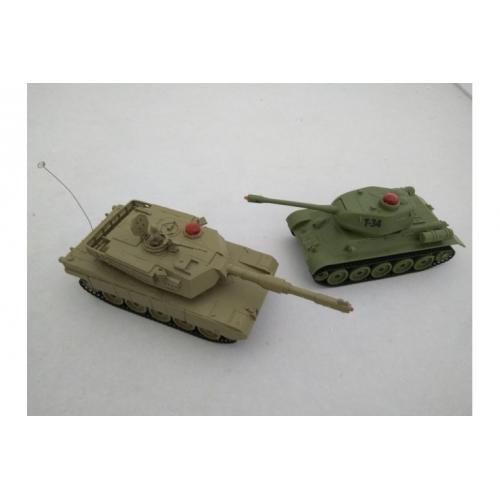 Набор танковый бой на радиоуправлении M1A2 и T-34 (по 20 см, свет, звук)