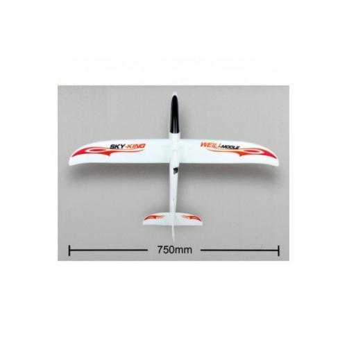 Радиоуправляемый планер Sky King 2.4G WL Toys (длина 57 см)