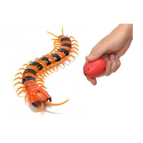 Радиоуправляемая игрушка гусеница Сколопендра (свет, 35 см)
