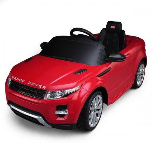 Электромобиль для детей джип Land Rover Evoque красный 12V на пульте (свет, звук, 120 см)