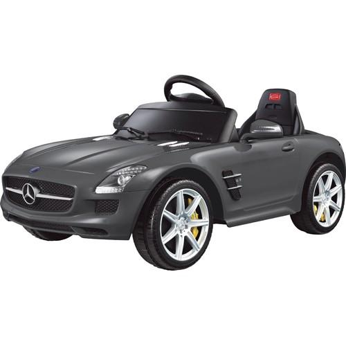 Электромобиль для детей радиоуправляемый Mercedes-Benz SLS AMG серый (звук, свет, 110 см)