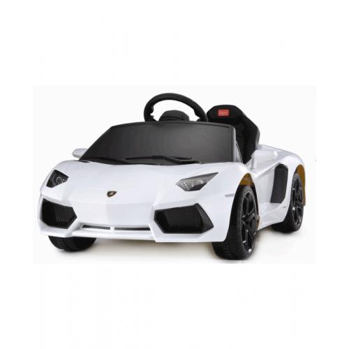 Электромобиль для детей радиоуправляемый Lamborghini Aventador LP 700-4 белый (звук, свет, 110 см)