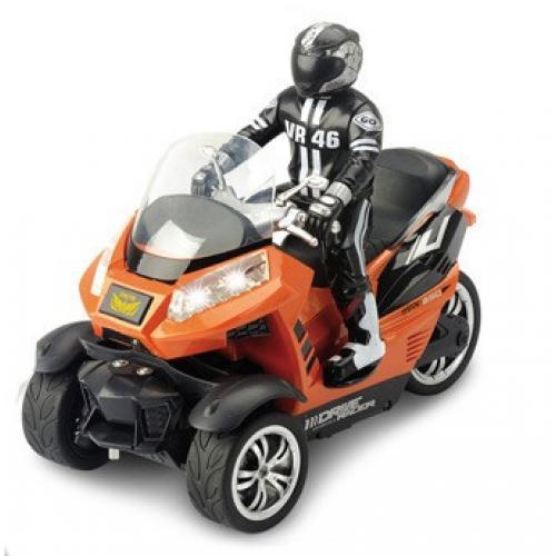 Радиоуправляемый мотоцикл Трицикл Moto Racing 1:10 (свет, 28 см, аккум.)
