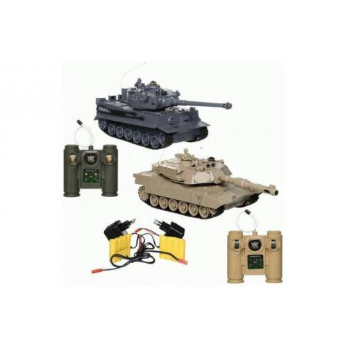 Танковый бой на радиоуправлении M1A2 и Tiger 1:28