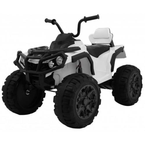 Детский квадроцикл Grizzly ATV White 12V с пультом управления