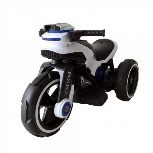 Детский мотоцикл на аккумуляторе Y-MAXI Police White - SW198B-WHITE