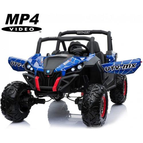 Двухместный полноприводный электромобиль Blue Spider UTV-MX Buggy 12V MP4