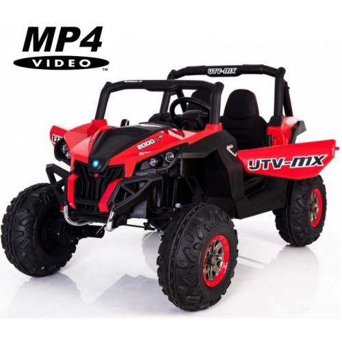 Двухместный полноприводный электромобиль Red UTV-MX Buggy 12V MP4