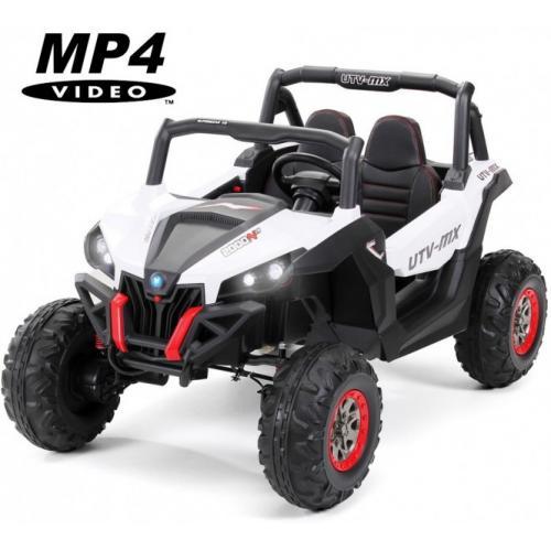 Двухместный полноприводный электромобиль White UTV-MX Buggy 12V MP4