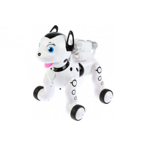 Собачка далматинец на пульте управления, белый цвет