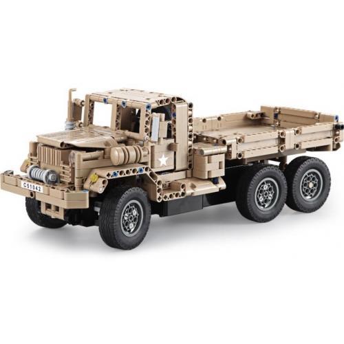 Конструктор радиоуправляемый CADA deTech военный грузовик (38 см, 545 деталей)