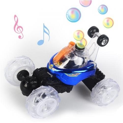 Радиоуправляемая трюковая машина-перевертыш RENDA (29 см, синий, мыльные пузыри)