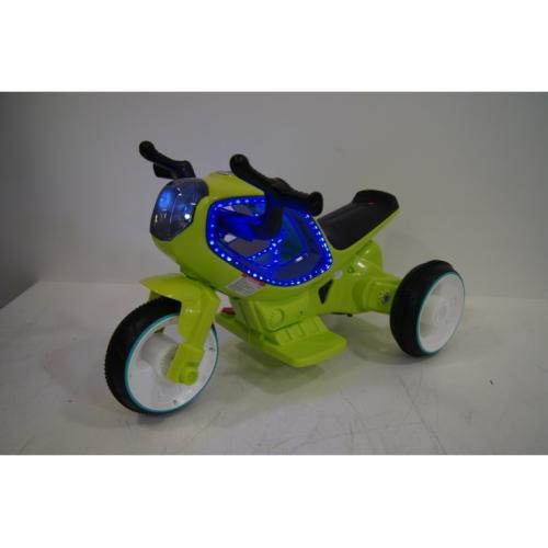 Детский электромотоцикл зеленый