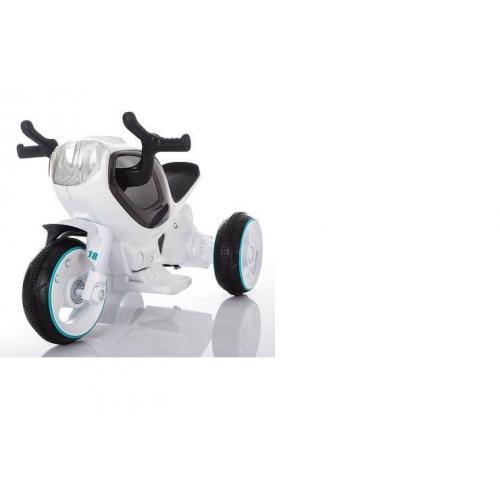 Детский электромотоцикл белый
