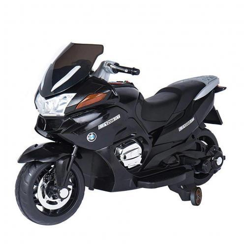 Детский электромобиль мотоцикл BMW черный