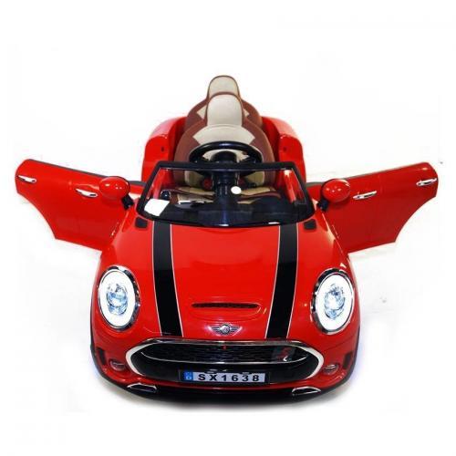 Детский электромобиль Mini Cooper Red Luxury 12V 2.4G - SX1638